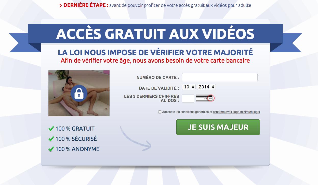 Site porno gratuit aucune carte de crédit